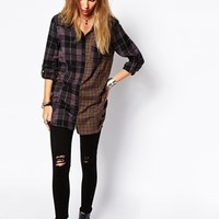 Blend Mixed Checked Shirt