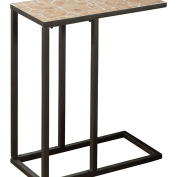 Monarch Specialties Hammered Small Accent Table - Brown