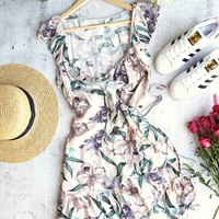 tropical paradise wrap dress - floral