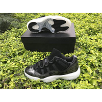 Air Jordan 11 Retro Black White Space Jam Concord Bred Original Men Size Basketball Shoes With Box