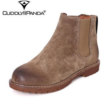 2017 New Arrival Autumn Spring Chelsea Boots Women Ankle Boots Pigskin Martin Boots Retro Vintage Fashion Boots Botas Mujer