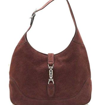 Gucci New Jackie Suede Hobo Shoulder Bag 277520 Red - Beauty Ticks