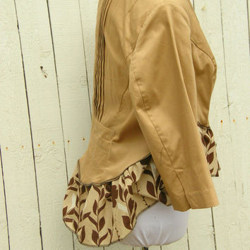 One of a Kind Bohemian Cotton Reconstructed Jacket L-XL