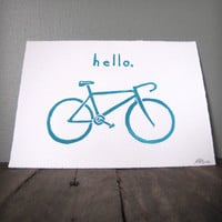 Hello Bicycle Print