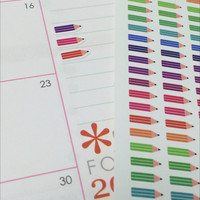 351 mini colorful pencils stickers _ Planner stickers _ Perfect for Erin Condren, other planner, calendar and scrapbooking! *SKU-446*
