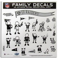 Oakland Raiders NFL Family Car Decal Set (Large)