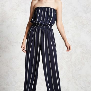 Strapless Palazzo Jumpsuit