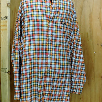 Polo Ralph Lauren Flannel shirt L / plaid  cotton flannel shirt / mens Ralph Lauren 90s flannel shirt
