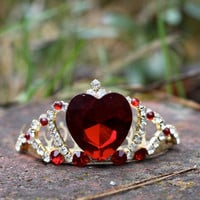 Queen of Hearts Style Mini Comb Tiara