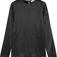 Givenchy - Open-sleeved top in black silk-satin