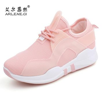 2018 New Arrival Spring Summer Women Tennis Shoes Breathable Air Mesh Non Slip Sport Shoes Women Lace Up Sneakers Tenis Feminino