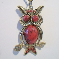 eBlueJay: Carnelian Owl Pendant Necklace Costume Jewelry Fashion Accessories For Her