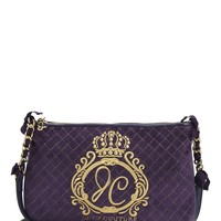 Jc Monogram Quilted Velour Crossbody by Juicy Couture