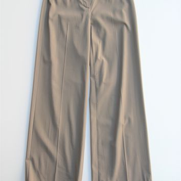 Calvin Klein Wool Stretch Wide Leg Cuffed Trousers Pants 2