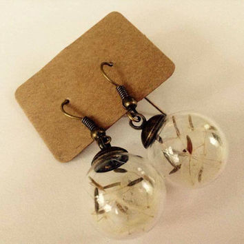 Dandelion wish earrings