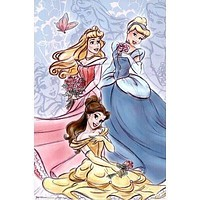 (22x34) Disney Princesses (Group) Art Poster Print