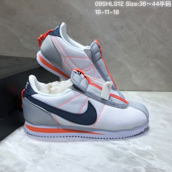 HCXX N654 Kendrick Lamar x Nike Cortez Basic Slip Running Shoes White Black Orange
