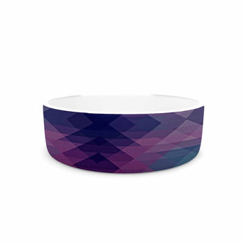 "Nika Martinez ""Hipsterland II"" Purple Teal Pet Bowl"