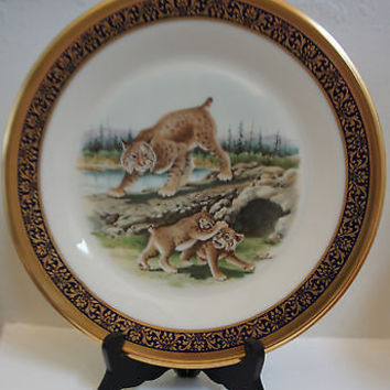 Vintage Lenox Fine China Woodland Life Collection 8th Issue Bobcats