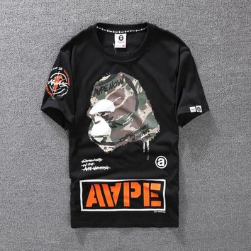 New Fashion Unisex AAPE Summer Short Tops [415650644004]