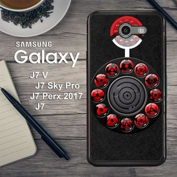 Sharingan Circle And Rinnegan Z2159 Samsung Galaxy J7 V , J7 Sky Pro, J7 Perx 2017 SM J727 Case