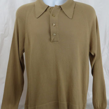 """Vintage 60s """"Mr Rodgers"""" Sweater LARGE"""