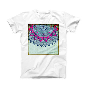 The Vintage Mandala ink-Fuzed Front Spot Graphic Unisex Soft-Fitted Tee Shirt