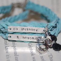 CUSTOM BFF Best Friend Bracelets with charm ( To Infinity and Beyond )