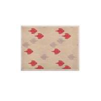 "Gukuuki ""Mayan Fish"" Beige Magenta KESS Naturals Canvas (Frame not Included)"