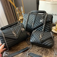 SAINT LAURENT YSL Fashion Black Leather shoulder bag