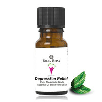 Depression Relief Therapeutic Grade Essential Oil Blend by Bella Reina (.35oz)