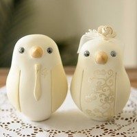 Custom Wedding Cake Topper Lovebirds by RedLightStudio
