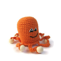 Baby Toddler Toys Octopus Rattle orange