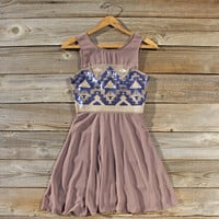Stone Spell Beaded Dress in Dusty Taupe