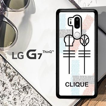 Twenty One Pilots Skeleton Clique X3438 LG G7 ThinQ Case
