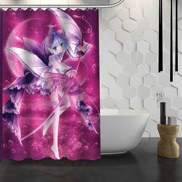 Mixed Varieties Japanese Anime Women Shower Curtains Hooks Included