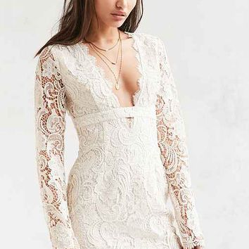 The Jetset Diaries Pisa Plunging Lace Dress