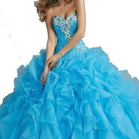 Organza Quinceanera Dresses Ball Gowns for Wedding Girls Party Homecoming Prom Formal