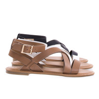 Seashore43M by Bamboo Gladiator Strappy Flat Sandal Open Toe Thick Criss Cross Summer Shoe