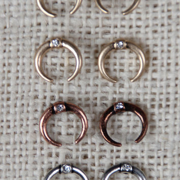 Crystals and Crescents Earring Set