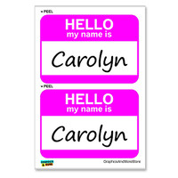 Carolyn Hello My Name Is - Sheet of 2 Stickers