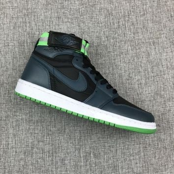 Air Jordan 1 High Strap Black Green - Best Deal Online