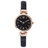 Merona® Skinny Strap With Glitz Watch - Black