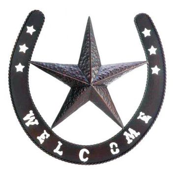 Cast Iron Western Star Wall Decor
