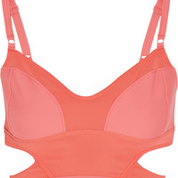 Adidas by Stella McCartney Swim cutout bikini top – 50% at THE OUTNET.COM