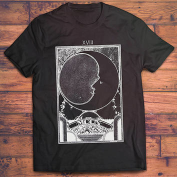 The Moon Tarot Card Shirt // Mens TShirt - Mens Gift // Boho Clothing - Wiccan Clothing - Festival Clothing // Astronomy Gifts - Astronomy
