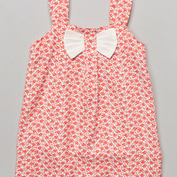Pink & White Huckleberry Bow Dress - Infant & Toddler | zulily