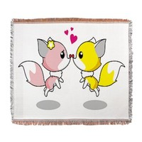Foxy Love Woven Blanket> Foxy Love> cuteness