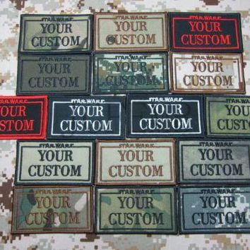 StatWars Custom name Tapes Text brand Morale tactics Military Embroidery patch