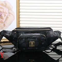 MCM Women Leather Purse Waist Bag Single-Shoulder Bag Crossbody